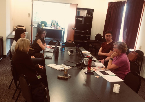 Youth Services consultants got together to discuss waste reduction for the Summer Reading program.