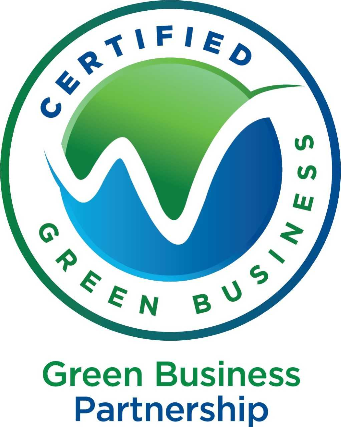 green business partnership logo.